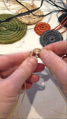 How to start a coiled basket
