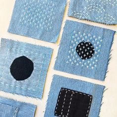 Japanese Embroidery Sashiko April Japanese Sashiko Clothing Mending Workshop - Come and learn artful and practical skills to mend, patch and repair damaged clothing and textiles inspired by time-honored Japanese Sashiko clothing mending Fabric Art, Fabric Crafts, Sewing Crafts, Sewing Projects, Art Crafts, Decor Crafts, Paper Crafts, Sewing Tips, Embroidery Thread