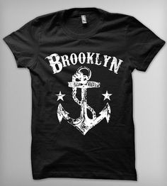 Brooklyn Anchor Men's T-Shirt | Men's T-Shirts | Roxy's Tee Parlour | Scoutmob Shoppe | Product Detail