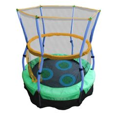 Skywalker Trampolines 40 In. Round Lily Pad Adventure Bouncer with Enclosure Kids will love to move and learn on the Skywalker Trampolines Lily Pad Adventure Backyard Trampoline, Backyard Play, Outdoor Play, Toddler Trampoline, Outdoor Toys, Indoor Outdoor, Trampolines, Bouncer For Kids, Bounce Jump