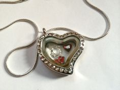 For The One I Love Locket and Charm Necklace by EmpyreanByDamaris, $40.00