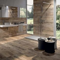 Bathroom wood tile floor ideas wood porcelain tile bathroom wood tile bathroom flooring 9 ideas wood look tile distressed rustic modern wood look tile Faux Wood Tiles, Wood Tile Floors, Wood Look Tile, Wood Planks, Hardwood Floors, Laminate Flooring, Wood Paneling, Room Tiles, Bathroom Floor Tiles