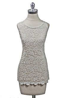 Floral Cotton Crochet Tunic