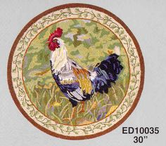 Rug Ed10035 2x3 Rooster Jpg 40299 Bytes French Countryroostersarea