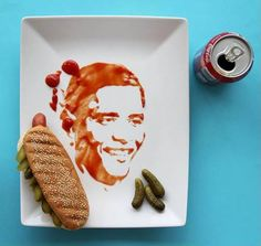 Great portraits of famous people from the food