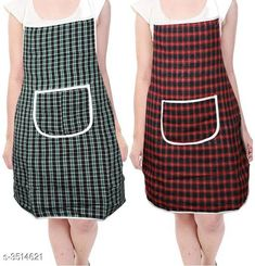 Aprons  Classy Stylish Cotton Apron ( Pack Of 2) Material:  Cotton Size: 50 in Length : Up To 27 in  Description: It Has 2 Pieces Of Aprons  Pattern: Checkered Sizes Available: Free Size *Proof of Safe Delivery! Click to know on Safety Standards of Delivery Partners- https://ltl.sh/y_nZrAV3  Catalog Rating: ★4 (7218)  Catalog Name: Free Mask Classy Stylish Cotton Apron Vol 4 CatalogID_489261 C129-SC1633 Code: 361-3514621-