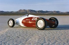 belly tankers | So Cal Speedshop's belly-tank racer on the salt flats.