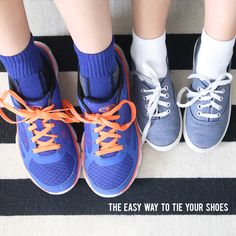 The fastest and easiest way to tie shoes! How to teach your kids to tie their shoes the fast and easy way. The best shoe tying hack.