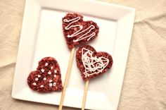Happy Valentine's Day!!!!  Share a homemade Red Velvet Krispie treat with a friend or loved one... it's the little things that make me smile <3