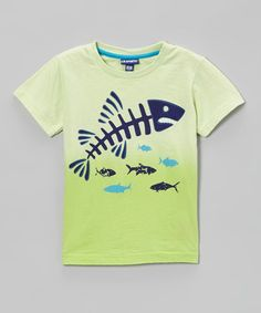 Look what I found on #zulily! Lime Fish Bone Tee - Infant & Boys #zulilyfinds
