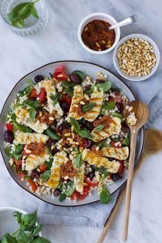 Veggie Recipes, Vegetarian Recipes, Dinner Recipes, Healthy Recipes, Healthy Food, I Love Food, Good Food, Easy Diner, Polenta
