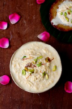 Rabri aka Rabdi is a classic, traditional Indian sweet. A rich dessert that is a mixture of thickened creamy milk and bits of malai (top of milk) that is lightly sweetened with sugar and flavored with saffron and cardamom powder.