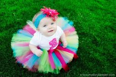 The Funky Monkey Birthday Tutu Set Includes tutu, shirt and headband with flower clip or bow-Great for Birthdays. $35.95, via Etsy.