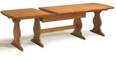 Tavolo fratino in legno massiccio da cm. 190 x 90 allungabile fino a ...