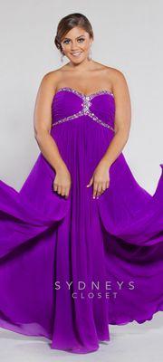 Sydney's Closet 2013 Prom Dress - Strapless Purple Chiffon Gown