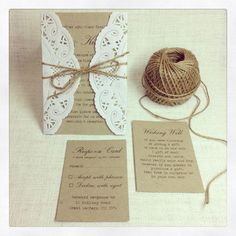 100 x Rustic Wedding Invitations  rustic by StunningStationery, $300.00
