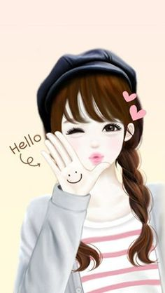 Find images and videos about cute, smile and kawaii on We Heart It - the app to get lost in what you love. Cute Girl Drawing, Cartoon Girl Drawing, Cute Drawings, Lovely Girl Image, Girls Image, Chibi, Girly M, Korean Anime, Cute Cartoon Girl