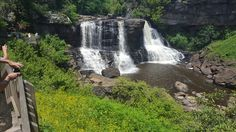 Thousands of pounds of water pouring from out beautiful Black Water Falls here in Wild and Wonderful West Virginia