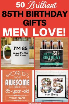 Gifts for 85 Year Old Man - 50 Gifts for The Man Who Has EVERYTHING! Gifts for 85 Year Old Man – Shopping for gifts for birthday? Delight your favorite senior ma Birthday Gag Gifts, 85th Birthday, Birthday Gift Baskets, Birthday Gift For Him, Gifts For Old Men, Gifts For Coworkers, Birthday Coffee, Beer Gifts, Fun Gifts