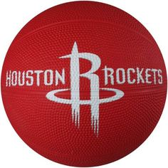 Spalding 65-541E Houston Rockets Mini Rubber Basketball