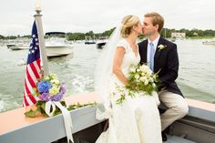 Take a boat to your reception. He Married the Girl Next Door: Katie and Sander's Wedding in Duxbury » Fucci's Photos of Boston | Boston Wedding Photographer