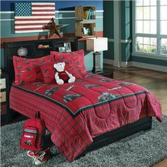 Finally, a tractor themed bedding set in a color you really want. Birchwood Trading is now giving you a new red color choice with their CASE IH/ FARMALL bedding ensemble. Get yours today at the Domestic Bin.