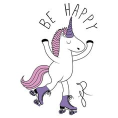 #unicornio #drawing #desenho #illustrator #adobe #sketchbook #behappy #unicorn #feliz #patins