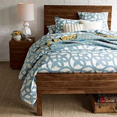 Stria Bed from West Elm. Love the rustic look but not sure how long-term it would be for me. $899 plus $75 shipping