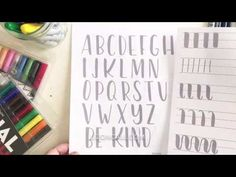 Brush Lettering Practice Sheets - YouTube