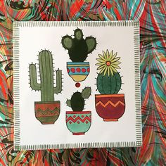 - Best Picture For cactus tatuaje For Your Taste You are looking for something, and it is going to - Pottery Painting, Ceramic Painting, Stone Painting, Glass Cactus, Cactus Art, Cactus Flower, Painted Mugs, Hand Painted Ceramics, Alone Art