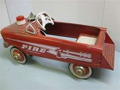 Fire truck pedel car.  I had one of these.