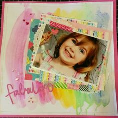 Love the watercolour background done with gelatos! My Scrapbook, Scrapbook Layouts, Watercolor Background, Watercolour, Online Paper, Craft Stores, How To Introduce Yourself, Nerd, Paper Crafts