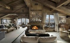 The choice of furniture for a lodge or cabin with a rustic theme | one Decor