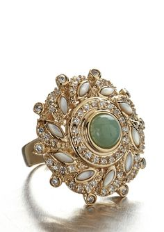 Andara Swirl mother of Pearl Ring