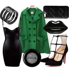 High Society - Slytherin by briana-mason94 on Polyvore featuring Lulu Guinness, Michael Kors, Marc by Marc Jacobs and Stila #slytherin #harrypotter #polyvore #highsociety