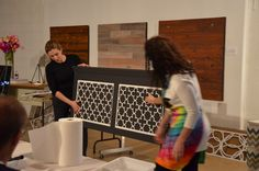 """Custom Overlay Quatrefoil for HeadBoard As shown at workshop for """"Dwell with Dignity"""""""