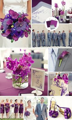 purple & grey wedding color theme.