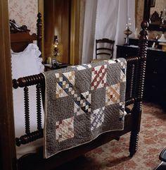 Quilt name: Underground Railroad  c. 1870 - slideshow image of quilt's