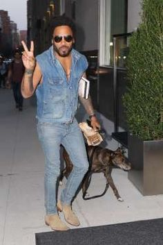Lenny Kravitz has a best friend and family member in his dog Leroy. Leroy's full name is Leroy Brown... - Blayze/Splash News