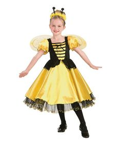 Loving this Yellow Royal Honey Dress-Up Oufit - Girls on #zulily! #zulilyfinds