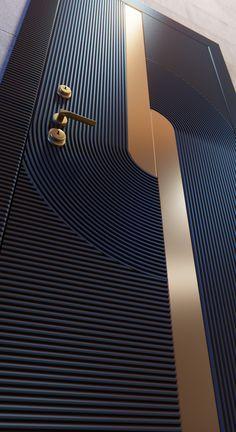 Modern Wooden Doors, Wooden Door Design, Modern Door, Door Design Interior, Apartment Interior Design, Main Entrance Door Design, Modern Exterior Doors, House Gate Design, Flush Doors