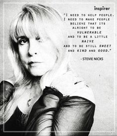 icons Yes it is! Love you Stevie. Stevie Nicks Quotes, Stevie Nicks Fleetwood Mac, Losing Your Best Friend, Slim Aarons, Think Happy Thoughts, Say That Again, Music Lyrics, Music Is Life, Beautiful Words