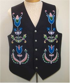 Fully Beaded Vest Front