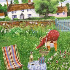 'Bottoms Up' By Artist Stephanie Lambourne.  Blank Art Cards By Green Pebble. www.greenpebble.co.uk