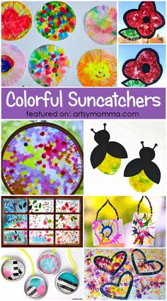DIY COLORFUL SUNCATCHER CRAFTS FOR KIDS
