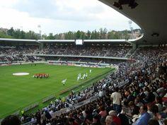 Estadio Dom Afonso Henriques, Guimarães, Portugal. Capacidad 30.000 espectadores. Sede del Vitoria SC, el club de fútbol de la ciudad.
