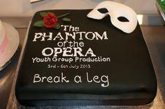 Phantom of the Opera youth production cake