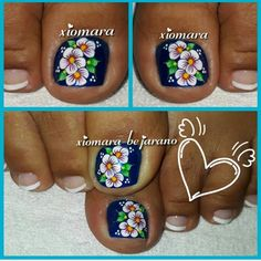 Toe Nail Art, Toe Nails, Natural Gel Nails, Toe Nail Designs, Pedicure, Hair And Nails, Hair Beauty, Feet Nails, Fingernails Painted