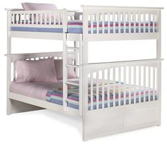 Ryo natural wood wood twin full bunk bed bunk beds for Ameublement beaubien