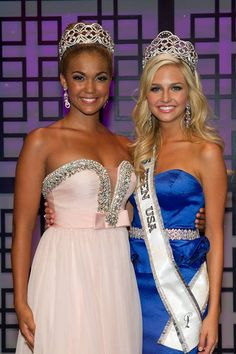 Miss Teen USA 2013 Cassidy Wolf with Miss Teen USA 2012 Logan West